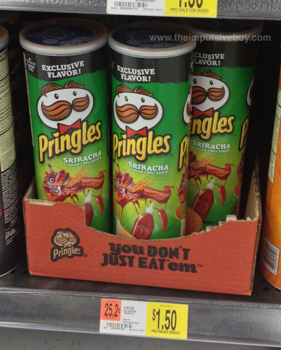 Sriracha-Flavored Pringles Now Available, Only At Walmart