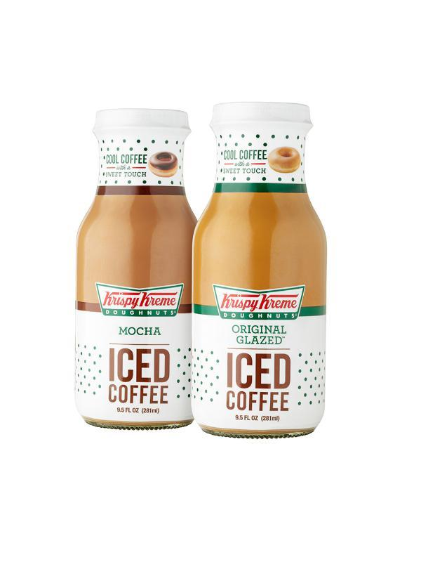 Krispy Kreme Puts Coffee Inside Donuts, Glass Bottles