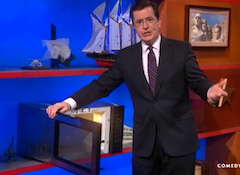 Bidding Is Open For The Microwave Stephen Colbert Stole From Bill O'Reilly