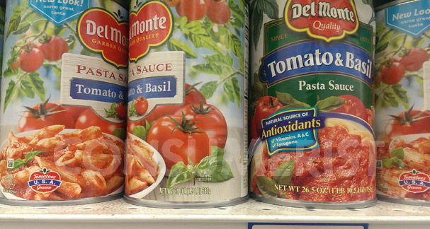 Grocery Shrink Ray Ladles Out 2.5 Ounces Of Del Monte Pasta Sauce