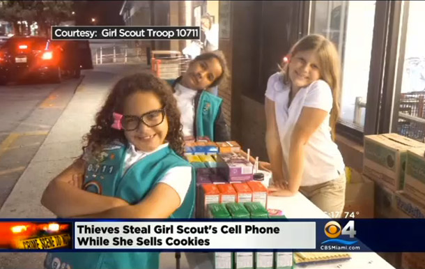 Two Terrible People Robbed Girl Scout Selling Cookies Outside Of Grocery Store
