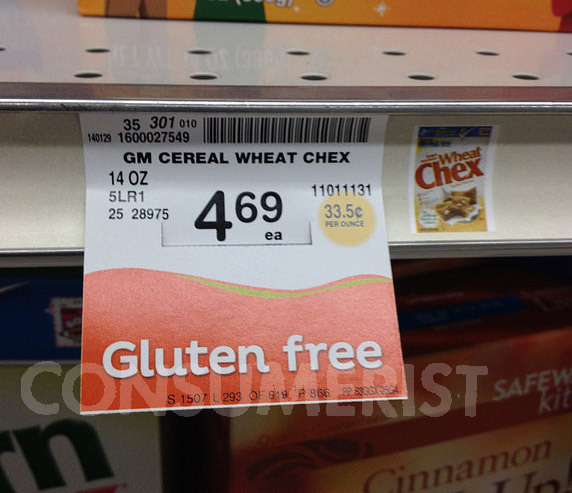 """Safeway's """"Gluten Free"""" Shelf Labels Could Use Some Work ..."""