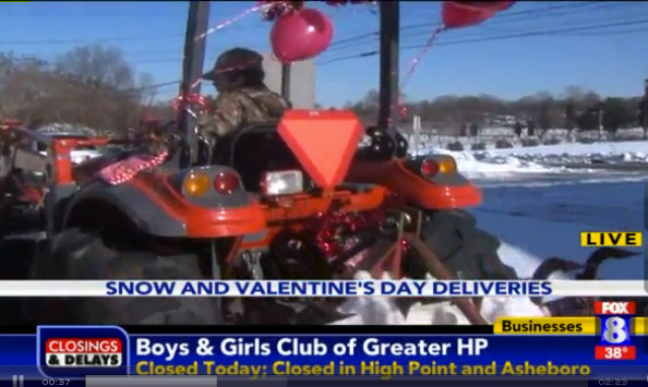 Brave Florists Pioneer Valentine's Day Deliveries By Tractor, Drone