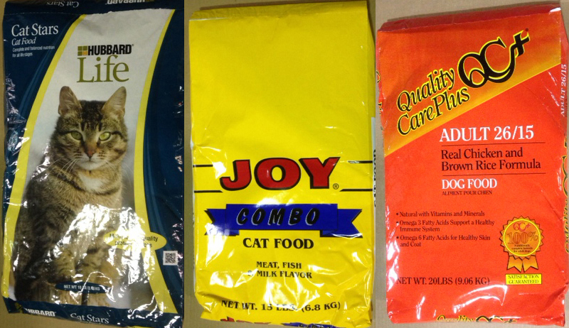 Some of the recalled pet foods. See chart below for full list.