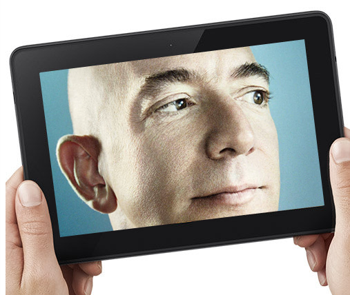 We're just hoping that next week's big announcement is a Kindle that only shows video of Amazon CEO Jeff Bezos, 24/7.
