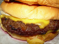 This is not the burger in question. It's just another meat patty with cheese. (Morton Fox)