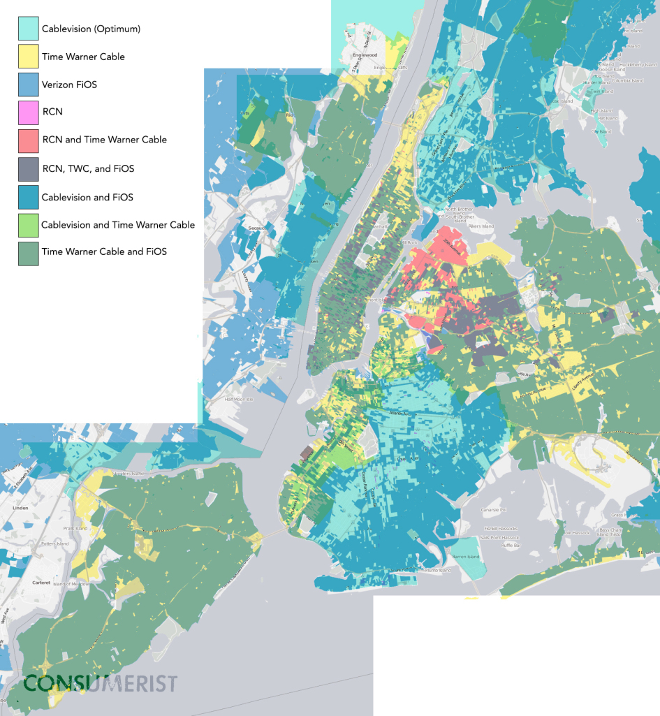 Competition in New York City through June, 2013. Click to enlarge and get a better view.