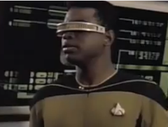 It always comes back to Geordi.