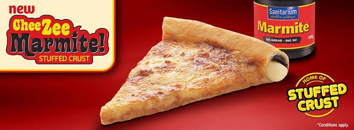 Pizza Hut New Zealand Introduces Marmite-Stuffed Crust Pizza