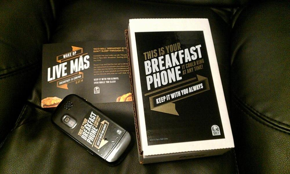 Taco Bell Sends 1,000 People Burner Phones With Secret Breakfast Missions