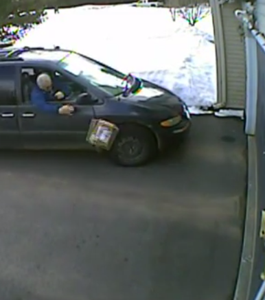 USPS Driver Practices His Bowling With A Customer's Package… From Inside A Minivan