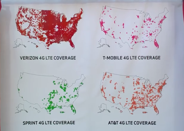 T-Mobile has issued a cease-and-desist to Verizon Wireless over ads that use 4G LTE coverage maps of the four major carriers. T-Mobile alleges this map understate's the company's actual level of  coverage.