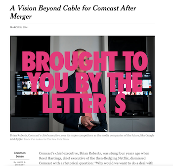 Let's Count The Ways In Which The NY Times' Love Letter To The Comcast Merger Is Full Of Bull