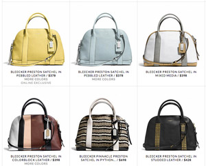 Coach Responds To Falling Profits By Offering Pricier Handbags