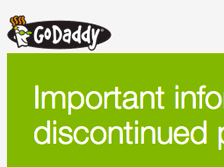 GoDaddy Discontinues Something, Forgets To Tell Customers What