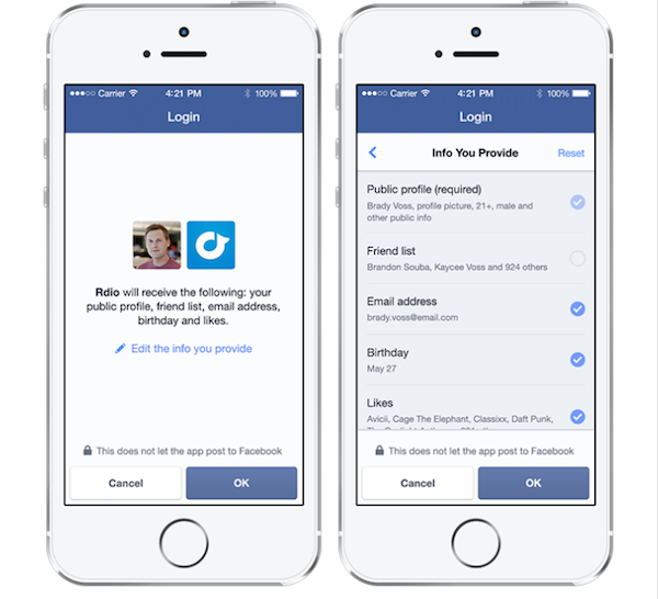 Facebook Updates Its Login System With New Privacy Controls, Anonymous Sign-In
