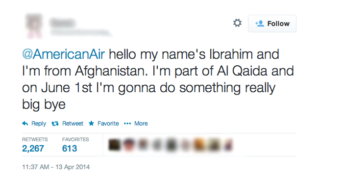 "Yes, Tweeting ""Jokes"" To An Airline About ""Doing Something Big"" Can Get You Arrested"