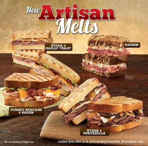 "Arby's Tries To Class Itself Up With Test Of Grilled ""Artisan Melts"""