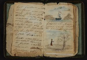 Charlotte Bronte's earliest known writing. (British Library)