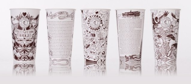 "Chipotle's ""Cultivating Thoughts"" Cups, Bags Showcased At Yale's Rare Book Library"