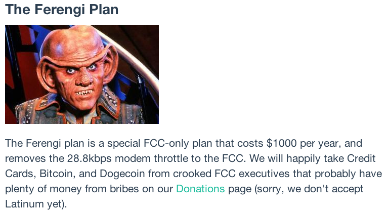 NeoCities' generous offer to lift the throttling for an annual fee of $1,000.