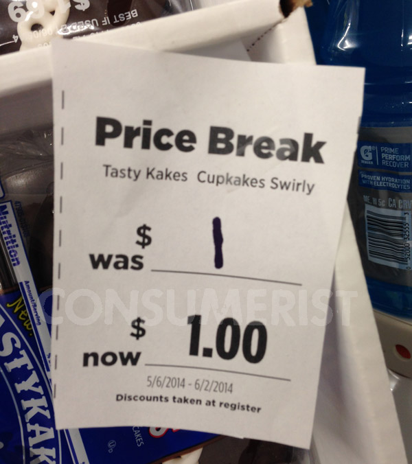 Adding Decimal Places Does Not Mean These Tastykakes Are On Sale