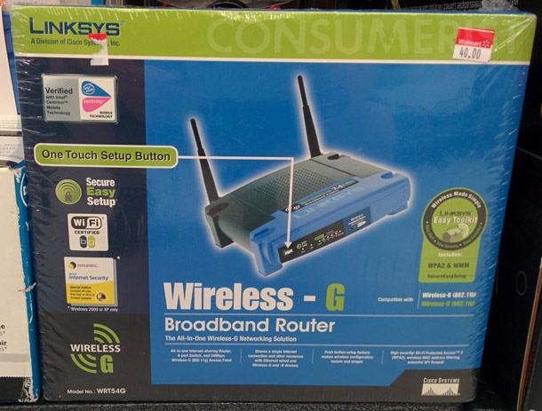 Raiders Of The Lost Walmart Have Your Router From 2003