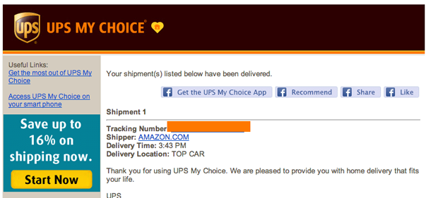 """TOP CAR"""" Means UPS Put Your Package On Car Roof – Consumerist"""