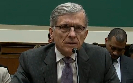 FCC chairman Tom Wheeler testifying before the House on May 20, 2014.