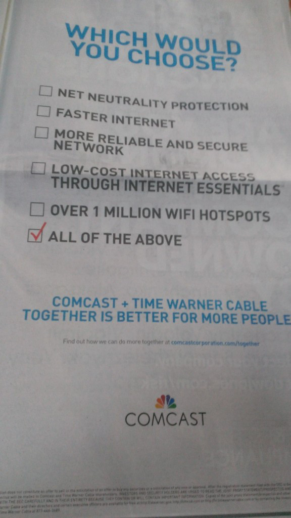 Comcast Brags About Net Neutrality Commitment, Fails To Mention