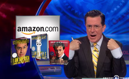 Stephen Colbert Upset That Stephen Colbert Books Are Hard To Buy On Amazon