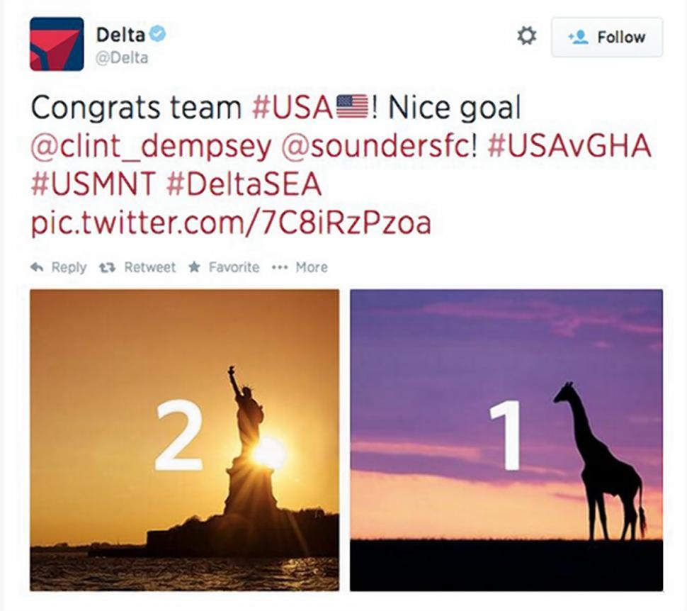 The Tweet from Delta has since been deleted and replaced with an apology from the airline.