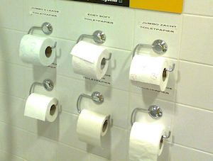 Dutch Supermarket Invites Shoppers To Pop A Squat And Try Out Different Brands Of Toilet Paper