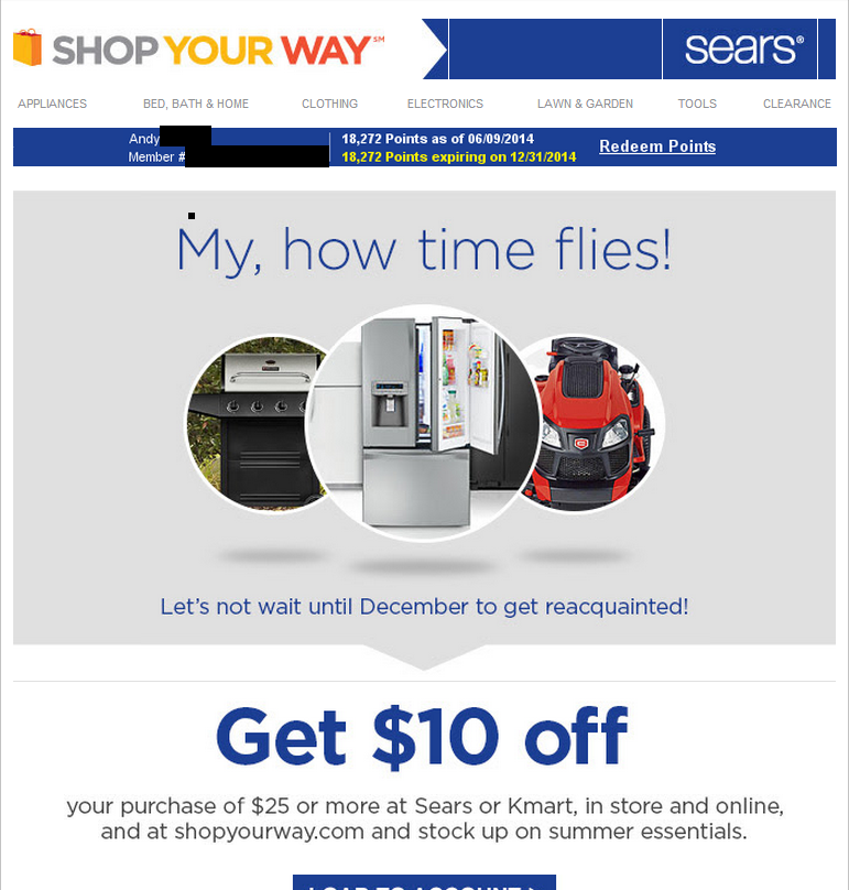 Sears Reminds Customers: Only 199 Shopping Days Until Christmas