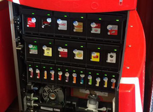 The Inside Of A Coke Freestyle Machine Looks Like A Complicated Inkjet Printer