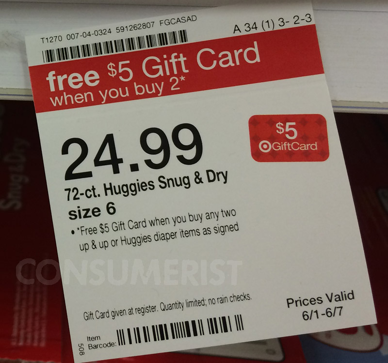 Spend $5 Extra To Get $5 Gift Card At Target