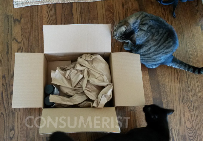 Walmart Stupid Shipping Gang Sends Box That Fits Supplements, Wads Of Paper, Cats
