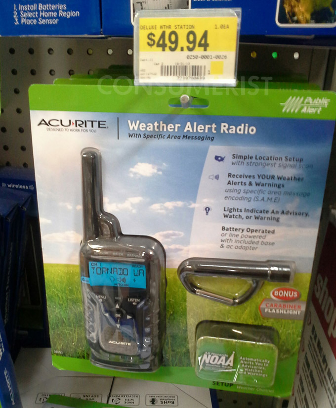 Walmart Weather Radio Pricing Less Awful Than It Appears