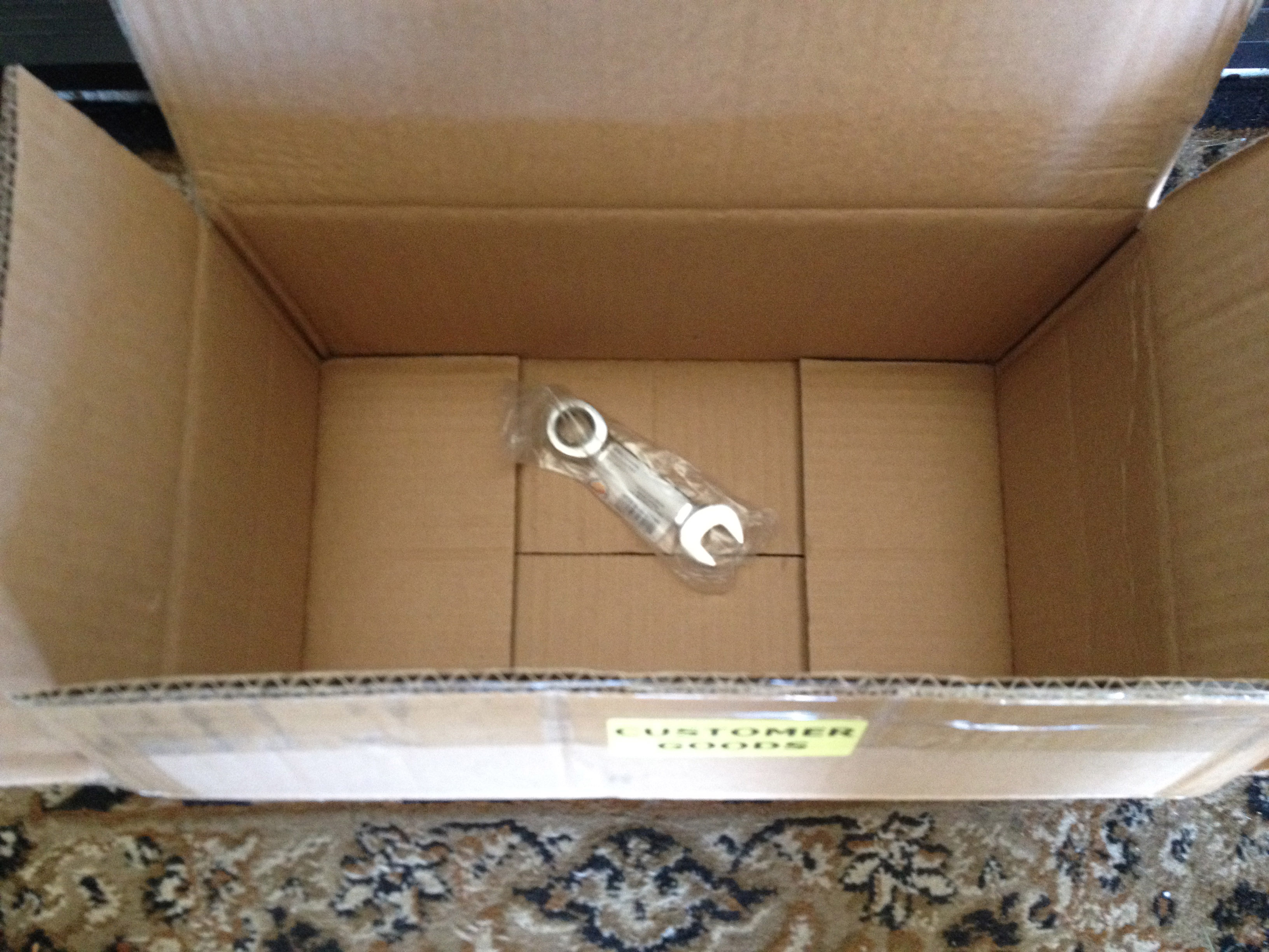Sears Ships Tiny Wrench To Store In Giant Box