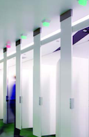 Forget Looking Under The Stall Like A Creeper: New Product Lights Up Restrooms Like A Parking Garage