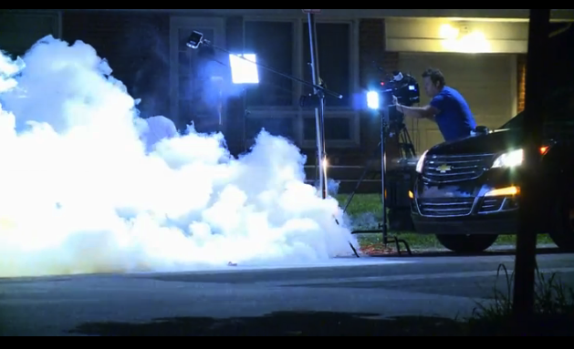 An Al Jazeera TV crew being tear-gassed by authorities in Ferguson (via BoingBoing)