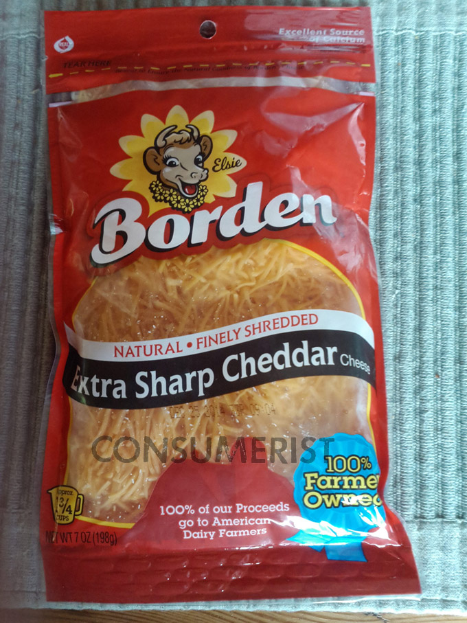 Borden Shrink Rays Cheese Package, Forgets To Destroy The Evidence