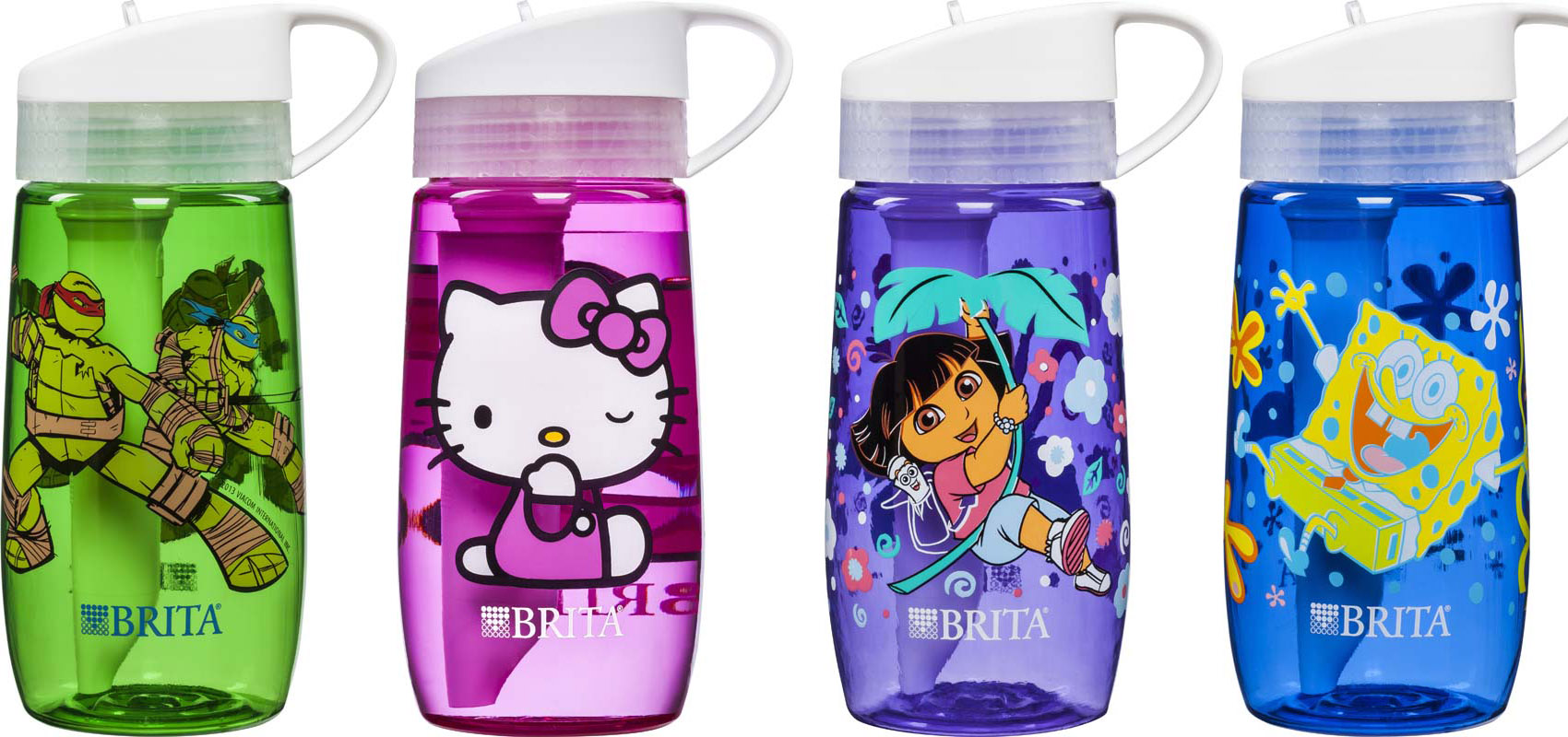 Brita Recalls Hello Kitty, SpongeBob, Dora, Ninja Turtles Water Bottles Because Kids Don't Like Lacerated Lips