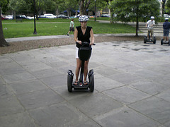 This is a person on a Segway. (pbm.)