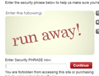 TicketMaster's CAPTCHA Has Important Message For You About Ticketmaster