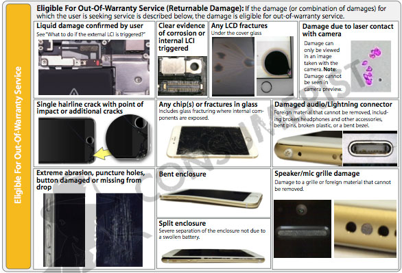 iphone 6 warranty apple s visual inspection guide says bent iphone 6 not 11448