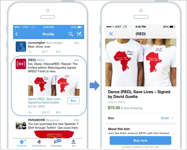 "Twitter Adds ""Buy Now"" Button For Limited Set Of Musical Artists, Nonprofits And Brands"