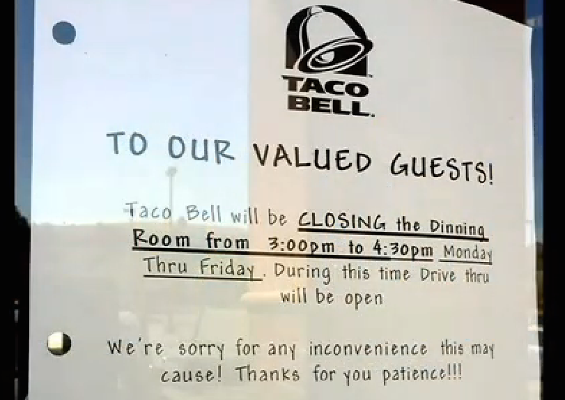 This Taco Bell Now Closed Afternoons After Becoming High School Fight Club
