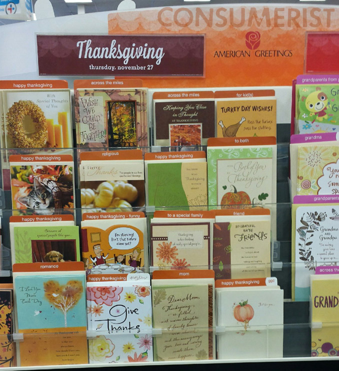 Now Let's All Address Stacks Of Thanksgiving Cards