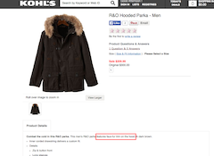 "Humane Society Accuses Kohl's Of Passing Off Raccoon Dog Fur In Parka As ""Faux"" Online"